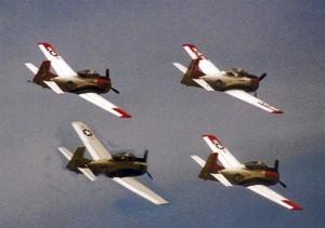 T-28s in flight