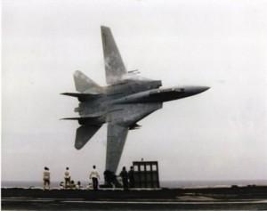 F-14 with pilot Capt. Dale Snodgrass