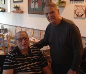 Robert Bohm and Bob Messer, Purple Heart receipents